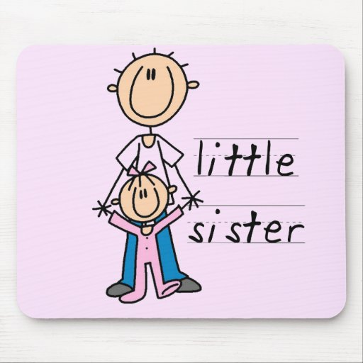Little Sister with Big Brother T-shirts and Gifts Mouse Pad