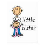 Little Sister with Big Brother T-shirts and Gifts Post Cards