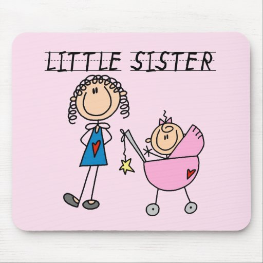 Little Sister With Big Sis Tshirts Mouse Pads