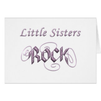 Little Sisters Rock Card