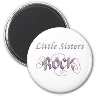 Little Sisters Rock Magnet