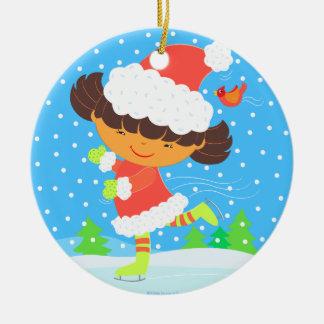 little skater round keepsake ornament