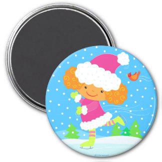 little skater round magnet