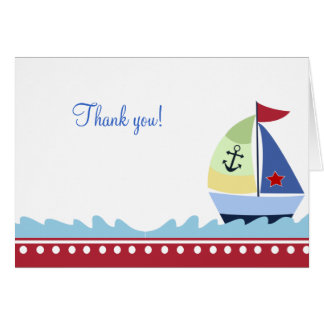 Little Skipper (Red) Folded Thank you notes Note Card