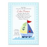 Little Skipper Sailboat 5x7 Baby Shower Invitation