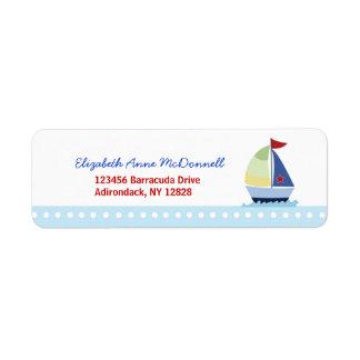 Little Skipper Sailboat Custom Address Labels