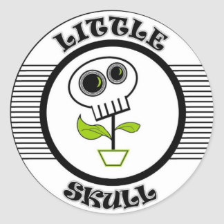 LITTLE SKULL CLASSIC ROUND STICKER