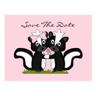 Little Skunks Save The Date Postcard