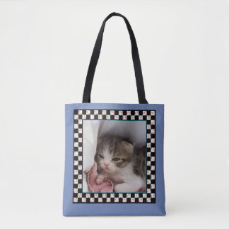 Little Sleepy-Head Kitten Tote Bag