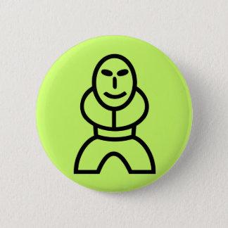 Little smiling man 6 cm round badge