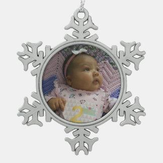 Little snowflake snowflake pewter christmas ornament