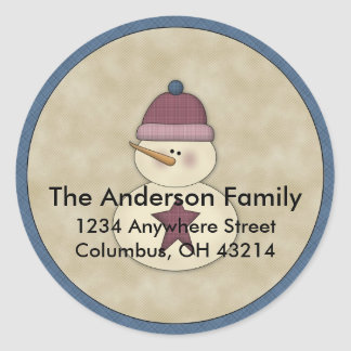 Little Snowman D3 Return Address Labels Sticker