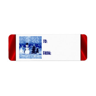 Little Snowman Welcomes Winter Gift Tags Labels