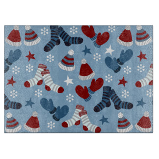 Little Socks, Hats, Mittens Holiday Pattern Cutting Boards