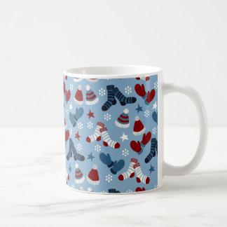 Little Socks, Hats, Mittens Holiday Pattern Coffee Mug