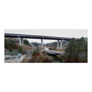 Little Spokane River and Wandermere 395 Bridge Poster