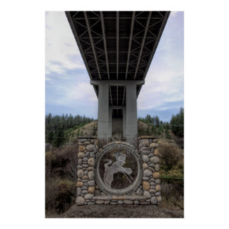 LITTLE SPOKANE RIVER VALLEY - WANDERMERE BRIDGE POSTER
