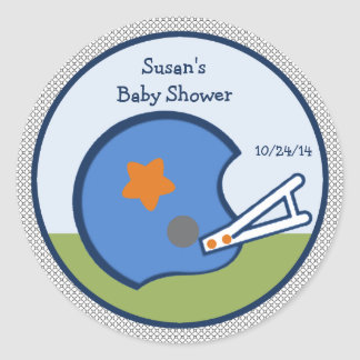 Little Sports Player/Football/Stickers/Cupcake Top Round Sticker