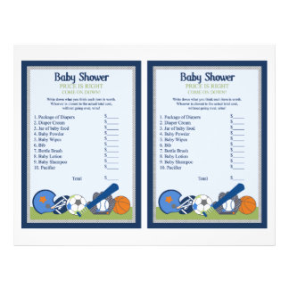 "Little Sports Player ""Price is Right"" Game 21.5 Cm X 28 Cm Flyer"
