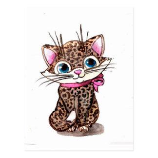 Little spotted kitten postcard