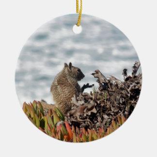 Little squirrel ceramic ornament