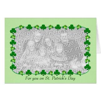 Little St. Patrick's Day Shamrocks (photo insert) Card
