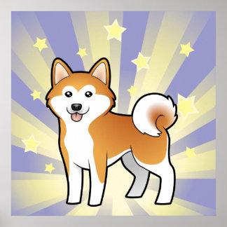 Little Star Akita Inu / Shiba Inu Poster