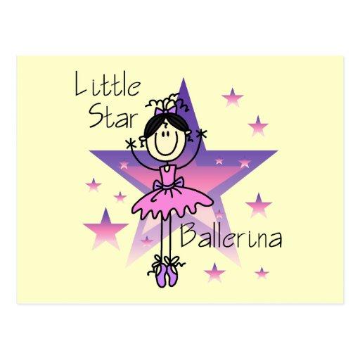 Little Star Ballerina-Black Hair Post Card