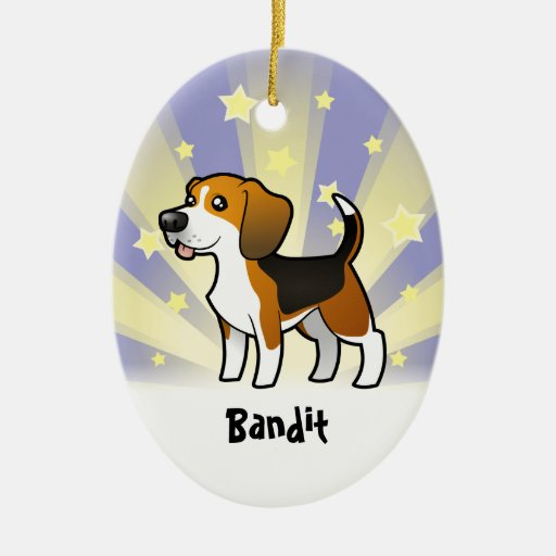Little Star Beagle (add your pets name) Christmas Tree Ornaments