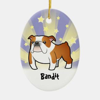 Little Star Bull Dog Ceramic Ornament