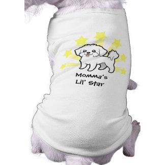 Little Star Maltese (puppy cut) Sleeveless Dog Shirt