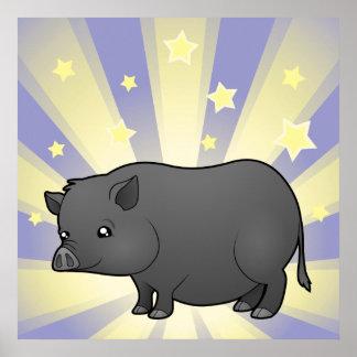 Little Star Miniature Pig Poster