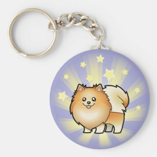 Little Star Pomeranian Key Ring