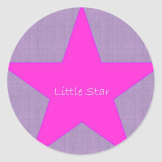 Little Star Round Sticker