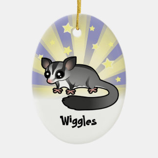 Little Star Sugar Glider (add your pets name) Ceramic Oval Decoration