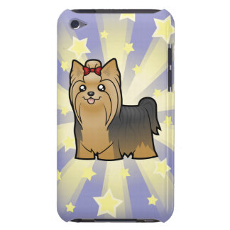 Little Star Yorkshire Terrier (long hair with bow) Barely There iPod Cases