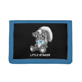 Little Stinker Boys cartoon trifold wallet
