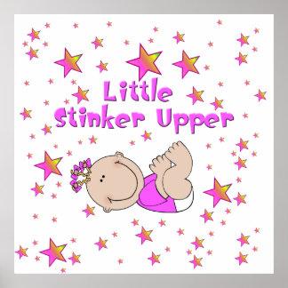 Little Stinker Upper - Baby Girl Poster