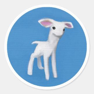 Little Sugar Lamb Round Sticker