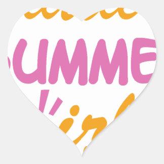 Little summer girl cool design heart sticker