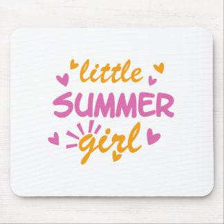 Little summer girl cool design mouse pad