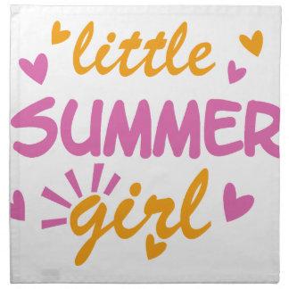Little summer girl cool design napkin
