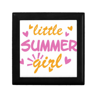 Little summer girl cool design small square gift box