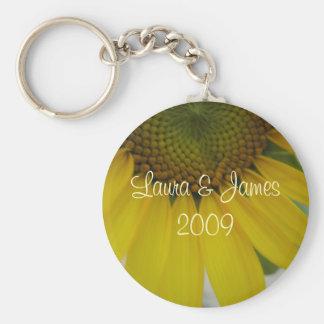 Little Sunflower Wedding Basic Round Button Key Ring