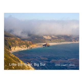 Little Sur River, Big Sur, California Postcard