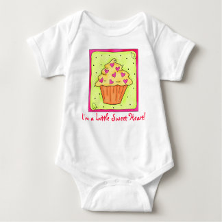 Little Sweet Heart Cupcake Baby's Infant Creeper