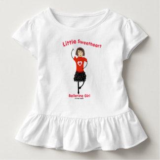 Little Sweetheart Ballerina Girl Toddler T-Shirt