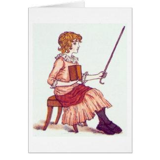 Little Teacher, Greeting Card
