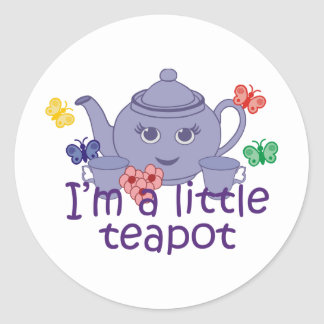 Little Teapot Classic Round Sticker