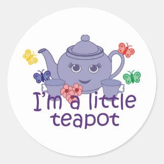 Little Teapot Round Sticker